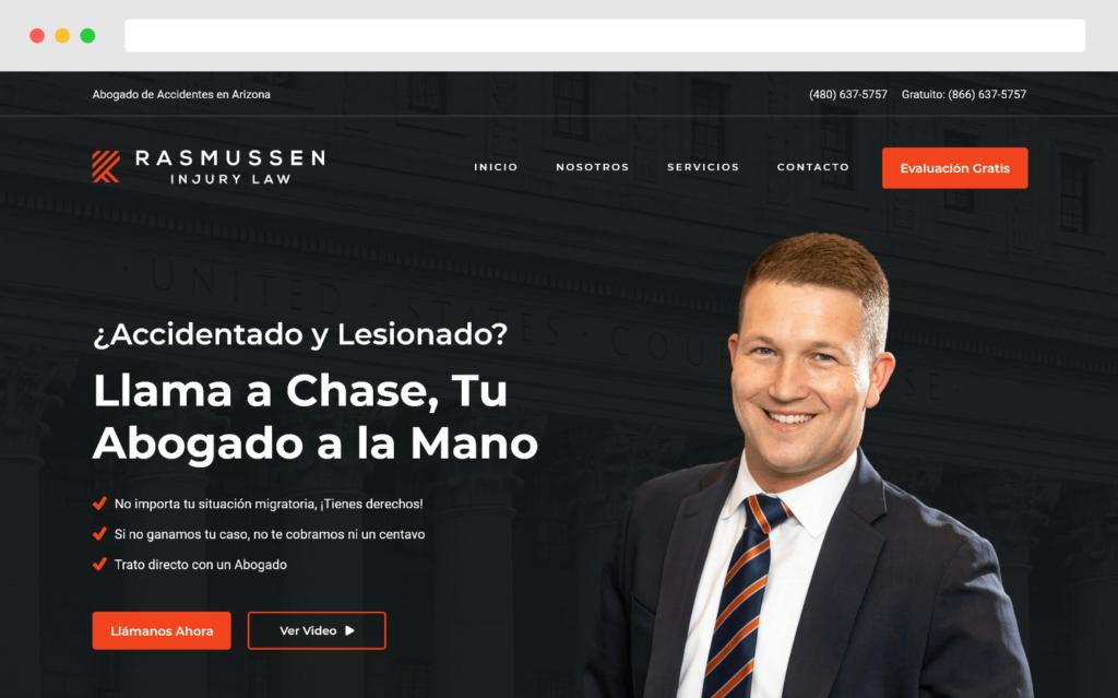 Chase Rasmussen Injury Law Website Design By Gobemax