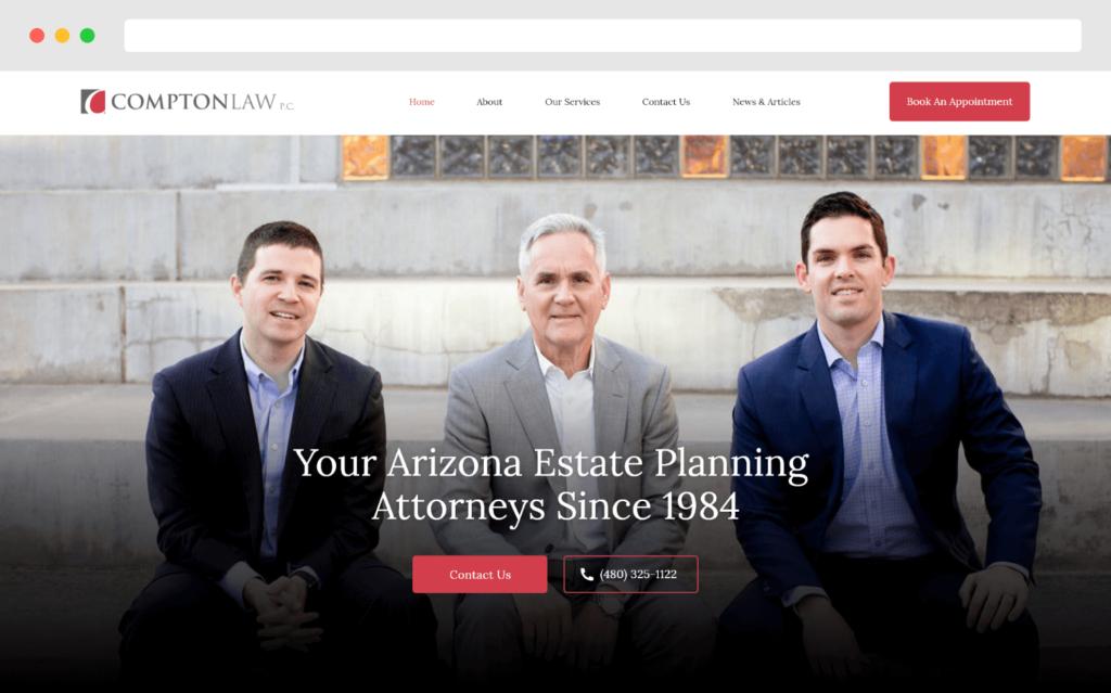 Comptonlaw Estate Planning Attorneys Website Design By Gobemax